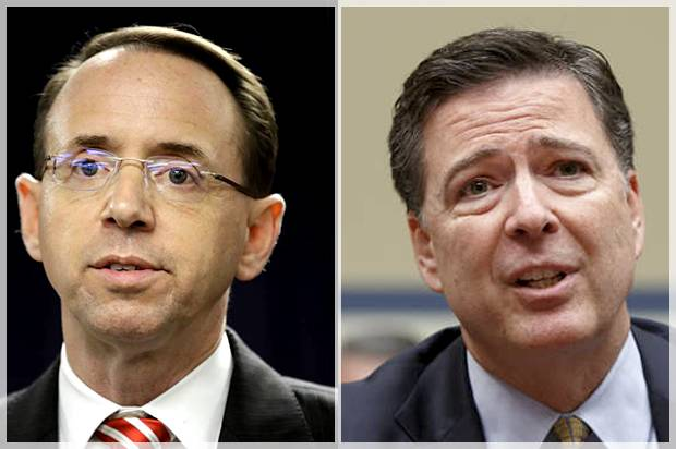 Image result for rosenstein and comey