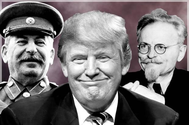 Joseph stalin and trotsky