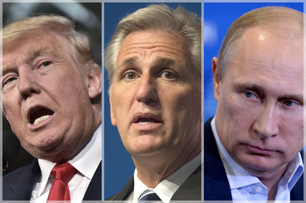 McCarthy: Comment that Putin is paying Trump was bad joke