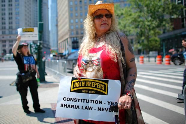 Anti-Sharia Law Protester