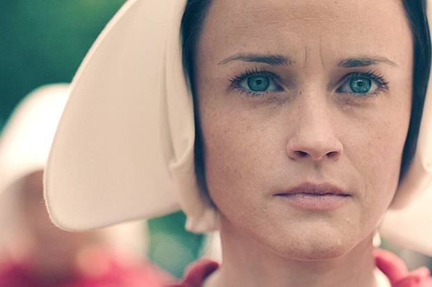 "Alexis Bledel as Ofglen in ""The Handmaid's Tale"""