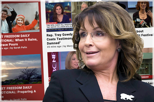 Sarah Palin's political brand has been reduced to a clickbait farm
