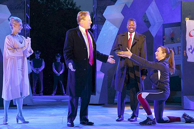 Public Theater's Free Shakespeare in the Park production of Julius Caesar