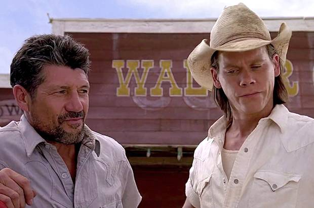 Fred Ward and Kevin Bacon in