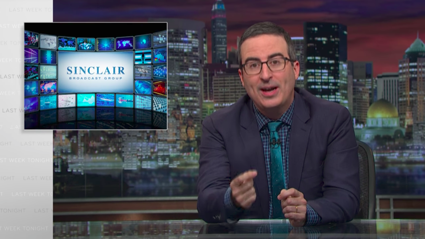 John Oliver hits Sinclair Media for conservative bias