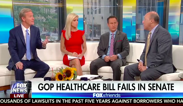 """Fox host: Senate Republicans against Trumpcare are """"maybe not true to their country"""""""