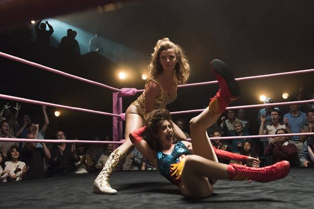 "Betty Gilpin and Alison Brie in ""Glow"""