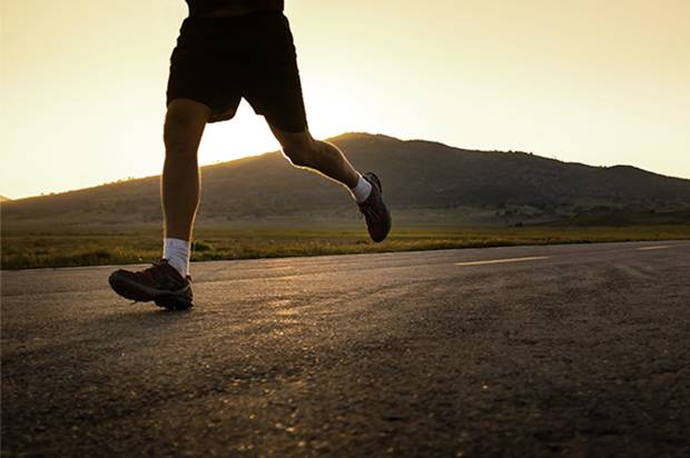 His first run outside: 27 miles from prison to home
