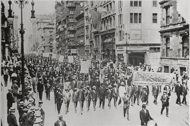 100 years ago African-Americans marched down 5th Avenue to declare that black lives matter