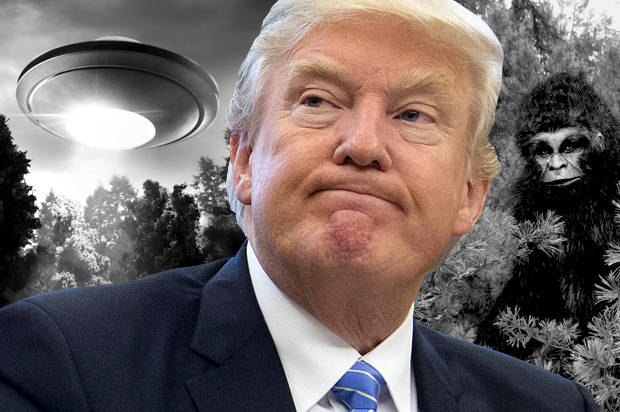 Trump Is Controlled by Aliens? Trump-ufo-bigfoot