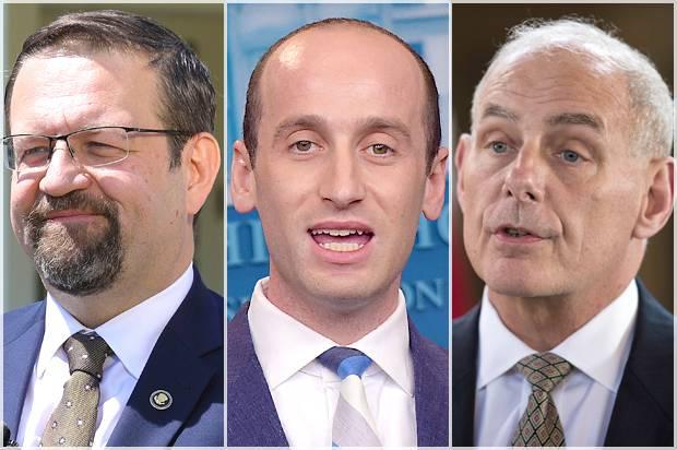 Sebastian Gorka; Stephen Miller; John F. Kelly