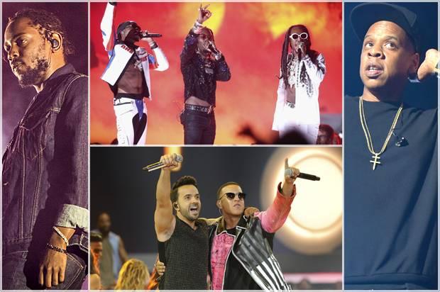 Kendrick Lamar; Migos; Luis Fonsi and Daddy Yankee; Jay-Z