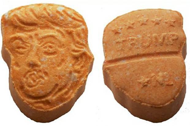 Donald Trump shaped ecstasy pills