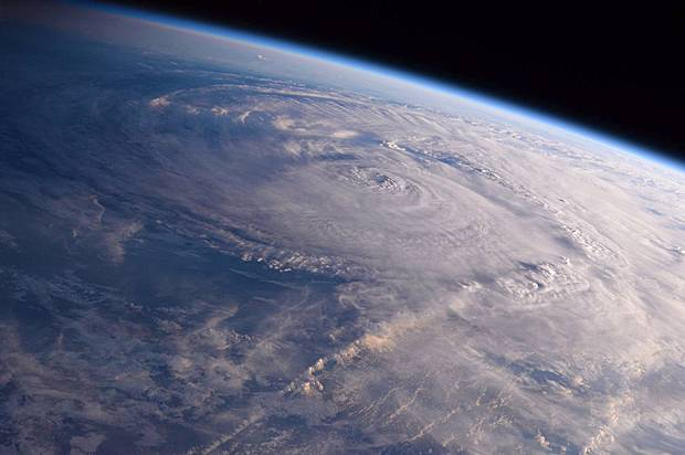 Hurricane Harvey over Texas