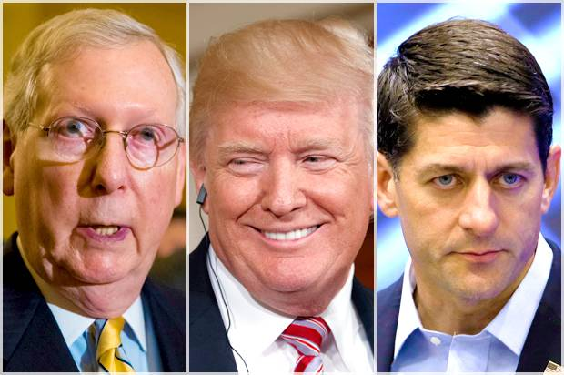 Mitch McConnell; Donald Trump; Paul Ryan