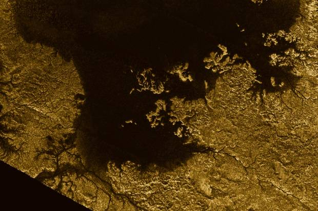 Hydrocarbon sea on Titan