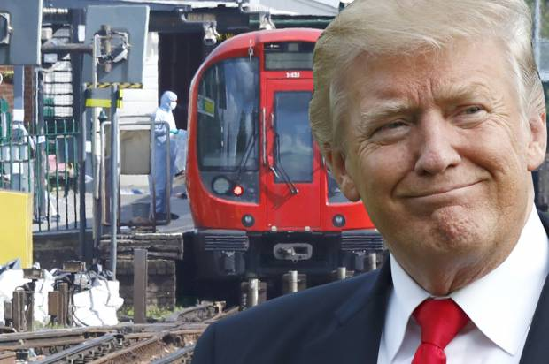 Donald Trump; Britain Subway Incident