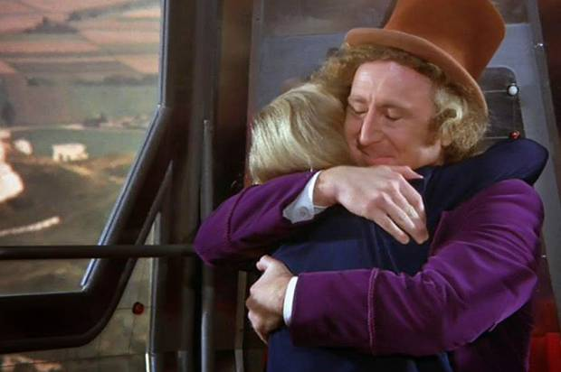 "Peter Ostrum and Gene Wilder in ""Willy Wonka & the Chocolate Factory"""