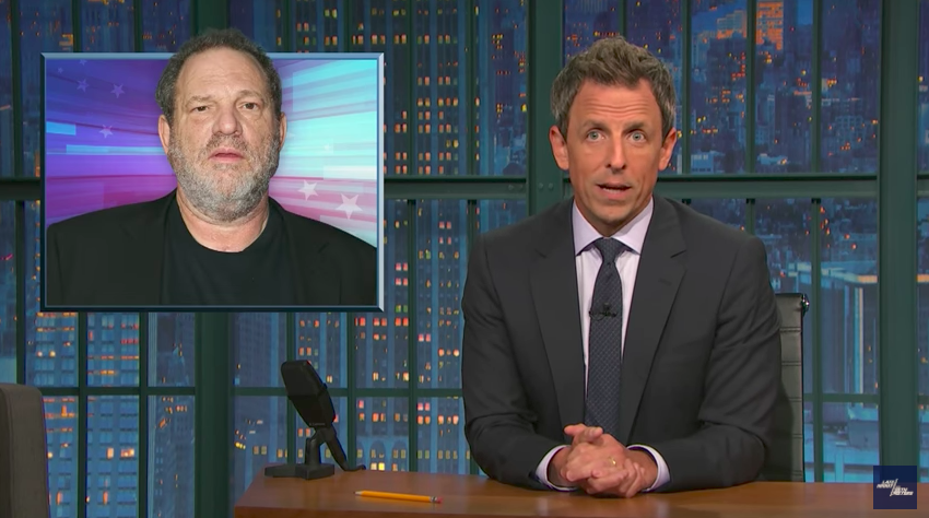 Seth Meyers rails against the culture of sexism — and not just Harvey Weinstein