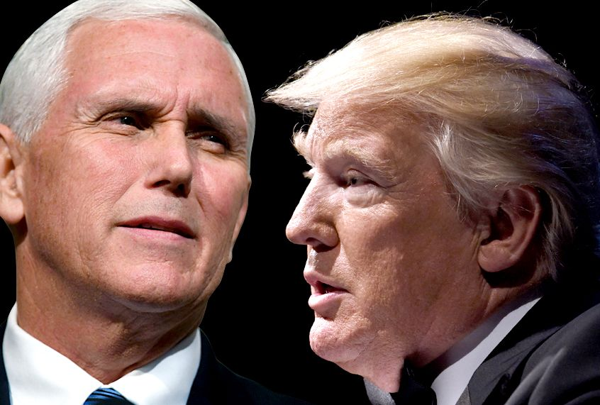 donald trump and his advisers have considered pushing mike pence off