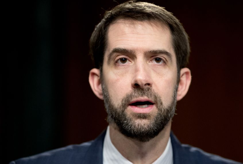 Without evidence, Tom Cotton suggests that the coronavirus is Chinese biological warfare