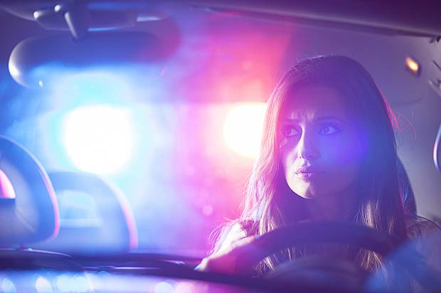 Woman Pulled Over by Cops