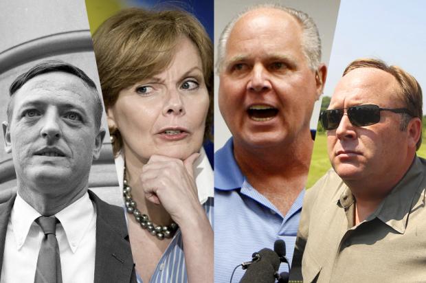 William F. Buckley, Jr.; Peggy Noonan; Rush Limbaugh; Alex Jones
