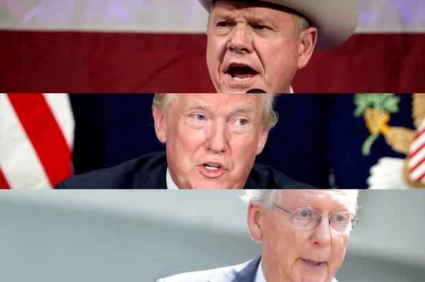 Roy Moore; Donald Trump; Mitch McConnell