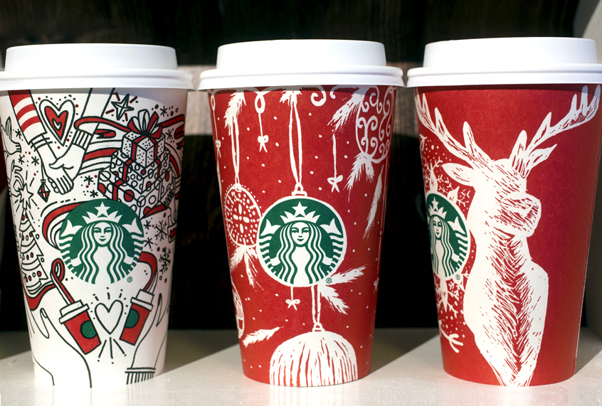 Starbucks Christmas Cups 2019.War On Christmas 2017 Fox News Asks If Starbucks Holiday