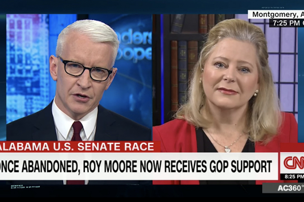 Anderson Cooper questions Roy Moore's spokeswoman Janet Porter