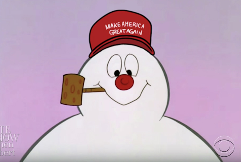 updated version of frosty the snowman cartoon takes a swing at president trump saloncom