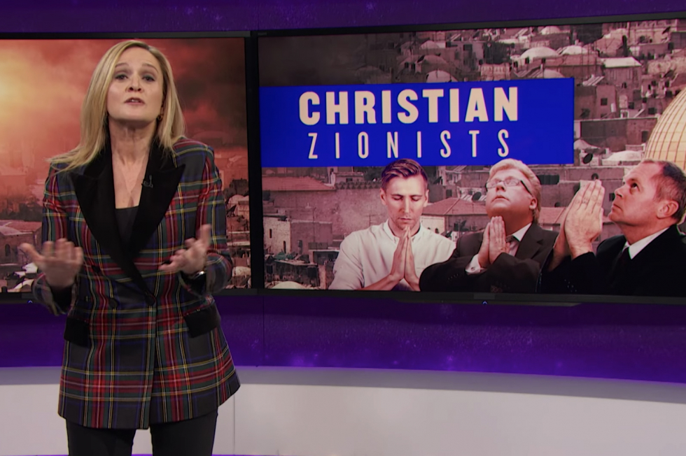 "Sam Bee: Trump's devout evangelical following is ""an Aryan death cult"""