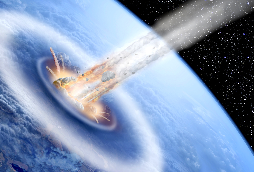 why does it when an asteroid hits earth the explode - photo #20