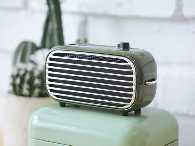This retro-looking speaker delivers amazing, wireless sound