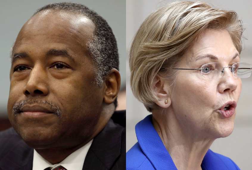 Say it to my face: Elizabeth Warren tells Ben Carson he should be fired