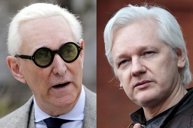 Roger Stone; Julian Assange