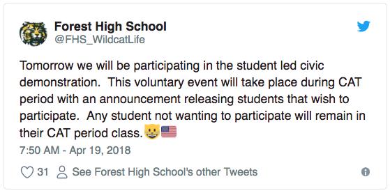 forest high tweet