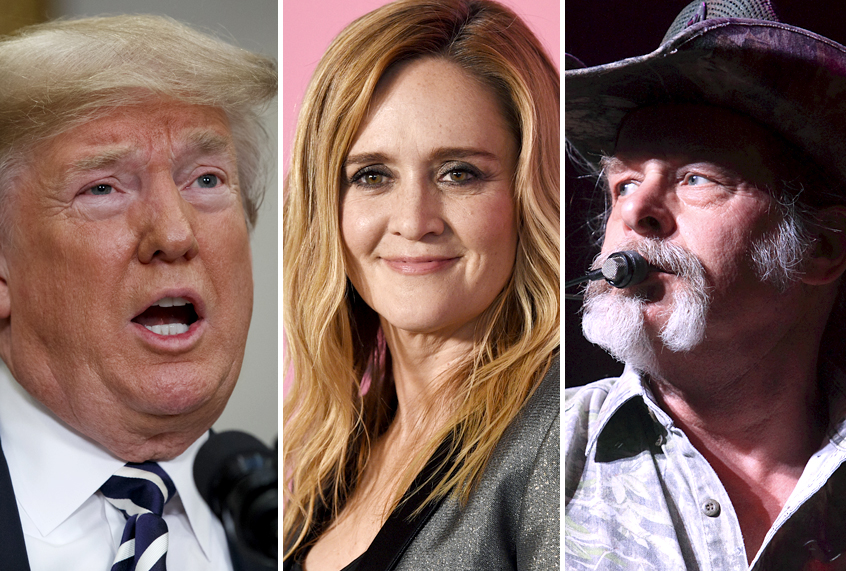 Trumps Sexist Samantha Bee Double Standard Ted Nugent Calls Hillary Clinton A Ct Gets Wh Invite