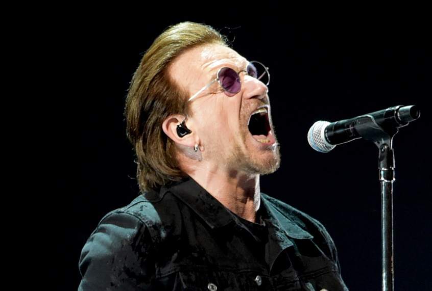 U2 isn't radical now: On tour, Bono calls for justice too