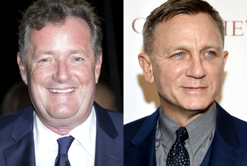 Piers Morgan taunts Daniel Craig over baby sling, and secure dads aren't having it