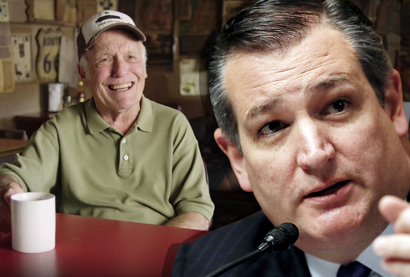 """""""Come on, Ted!"""": New campaign ad skewers Ted Cruz's """"Tough as Texas"""" s..."""