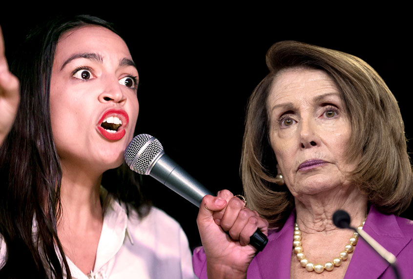 Image result for Pelosi vs Cortez