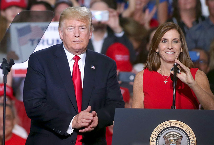 Support for Republican Martha McSally plummets in Arizona in wake of Trump's impeachment trial