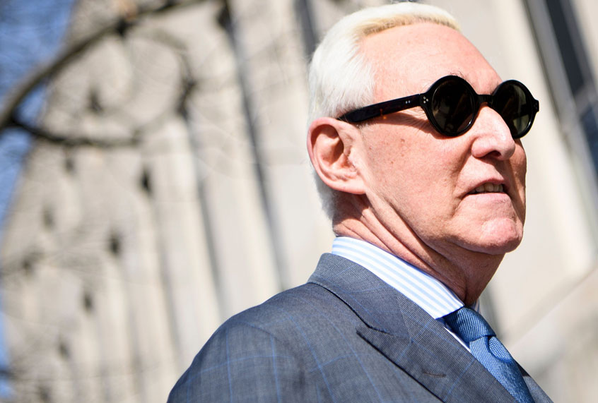 Trump associate Roger Stone sentenced to more than three years behind bars