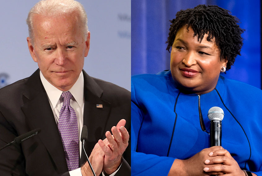 2d649805b22 Stacey Abrams rejects Biden veep talk; aide says pitch was
