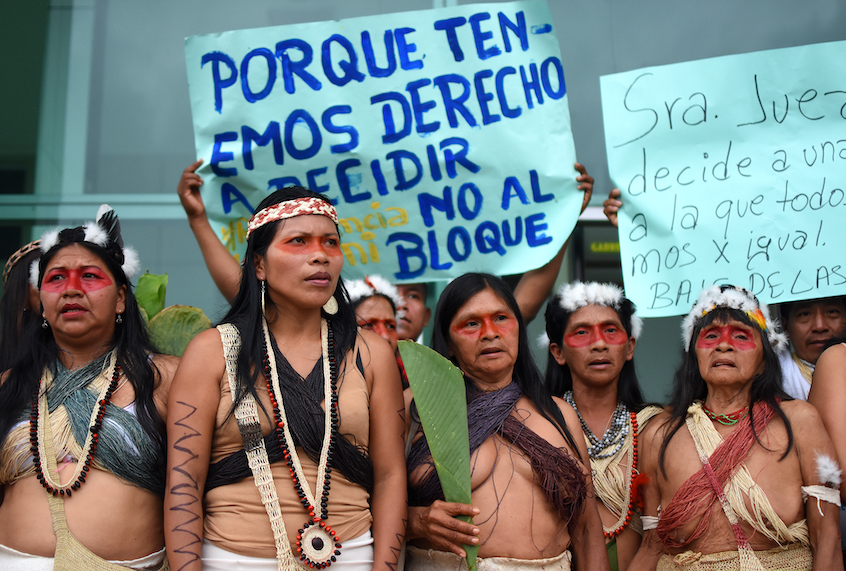 Indigenous Peoples Go To Court To Save The Amazon From Oil Company