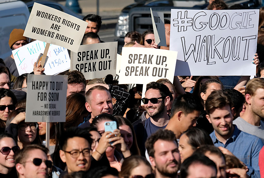 Maggots' Infiltration: Silicon Valley, once a bastion of libertarianism, sees a budding socialist movement Google-walkout3