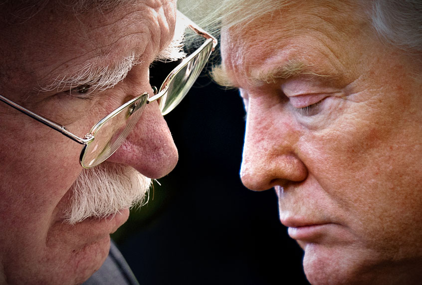 Image result for trump and bolton at odds