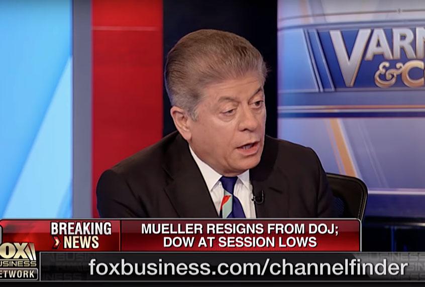 Fox News legal analyst Andrew Napolitano: Robert Mueller believes