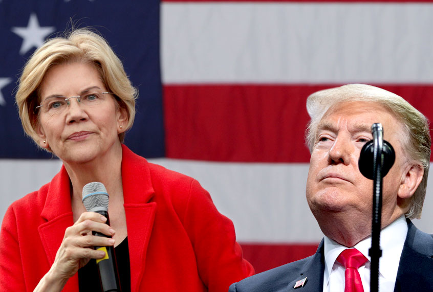 "Warren's ""economic Patriotism"" Goes After Trump's Empty"